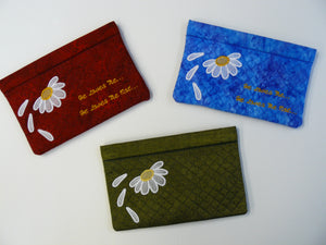 FP002 Fresh as a Daisy Snap Pouch Bag - In the Hoop Project