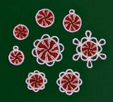 E124 Peppermint Charms & Tiny Ornaments Bundle (incl. E121-E123)
