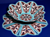 E142 Cat Bowl and matching Doily Bundle (incl. E140 & E142)