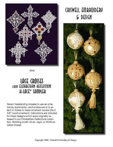 "E264 Lace Crosses from ""Elizabethan Reflections"""