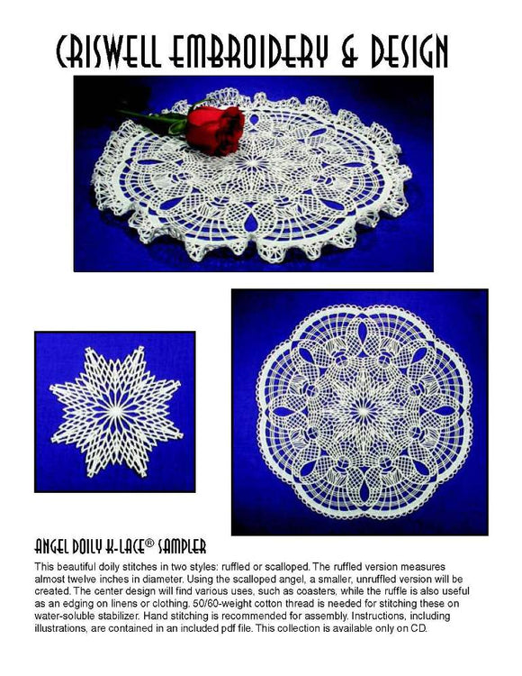 E269 Angel Doily K-Lace