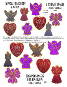 "E276 K-Lace™ Organza Angels (fit  4"" x 4"" hoops)"