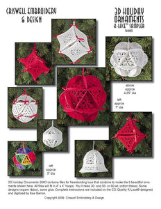 E283 3D Holiday Ornaments