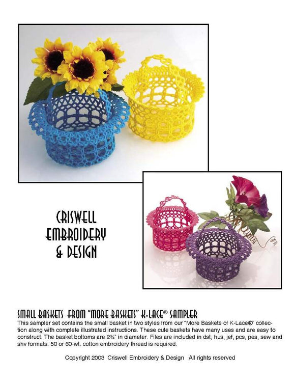 E310 Small Baskets from
