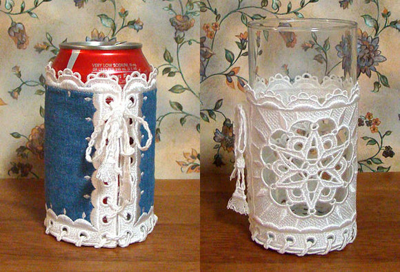 E333 Lace and Fabric Koozies for Big Hoops Bundle