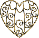 HS002 Filigree Heart $10.