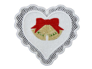 HS001 Christmas Heart Cutwork $10.