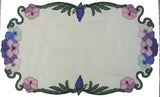 P001 Pansy Table Runner and Topper - with free bonus!