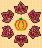 P007 Fall Leaves Table Runner Project $10.00