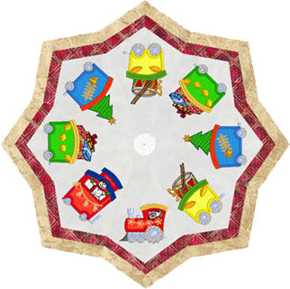 SS030 Christmas Train, Tree Skirt $20.00 or Christmas Train Wall Hanging $20.00 or Both for $35.00.