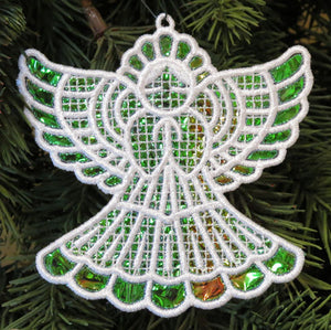 E420 Mylar®Angel Ornament with K-Lace™