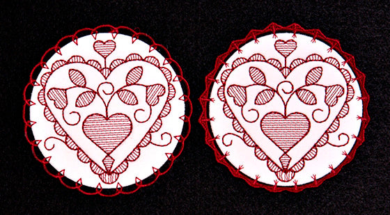 E076  Spring Coasters with K-Lace™ 2 as sinngles or 2 in a Bundle