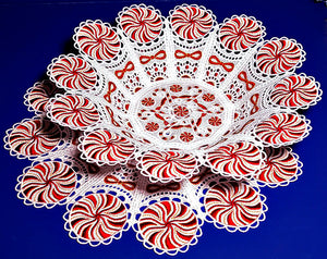 "E330 Peppermint Bowl and Doily for Big Hoops fits (5"" hoops)"