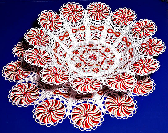 E330 Peppermint Bowl and Doily for Big Hoops fits (5