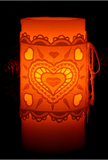"E375 Heart 3"" Flameless Candle Corset"