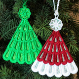 E446 Organza Tree & Hat Ornaments
