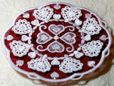 E452 3D Heart Doilies with Organza for Big Hoops Bundle