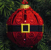 E538 Santa Belt Ornament Cover