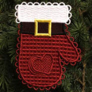 E548 Santa Mitten Ornament Cover