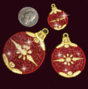 E571 Small Ornaments with Fabric