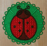 E431 Ladybug Coasters or Ornaments