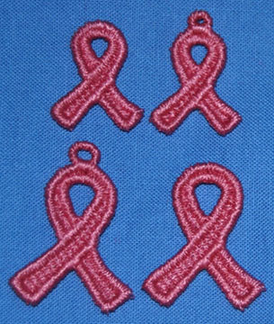 F004 Cancer Support Ribbon