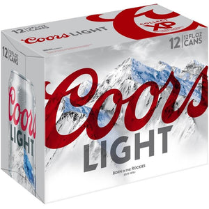 Coors Light, 12 Pack Cans