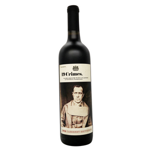 Single Bottle Picture of a 2018 19 Crimes, South Eastern Australian, Cabernet Sauvignon