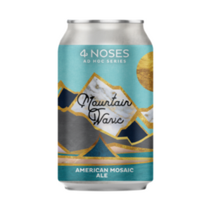 Singular can of 4 Noses Brewery 'Mountain Wave' American Mosaic Ale