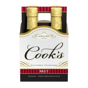Cooks, California Champagne Brut, 187ml 4 Pack Bottles