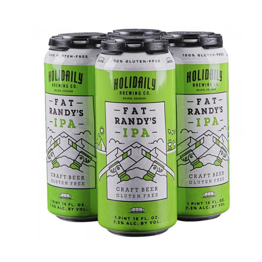 Holidaily Brewing, Fat Randy's IPA, 4 Pack 16oz Cans
