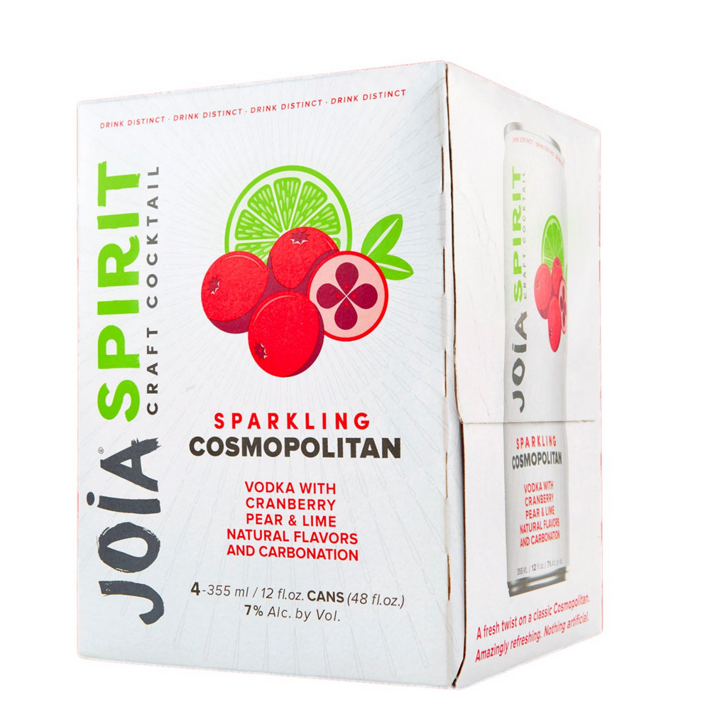 Joia Craft Cocktail, Sparkling Cosmopolitan, 4 Pack 355ml Cans