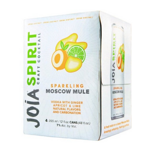 Joia Craft Cocktail, Sparkling Moscow Mule, 4 Pack 355ml Cans