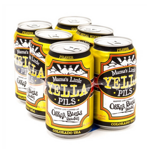 Oskar Blues, Mama's Little Yella Pils, 6 Pack Cans