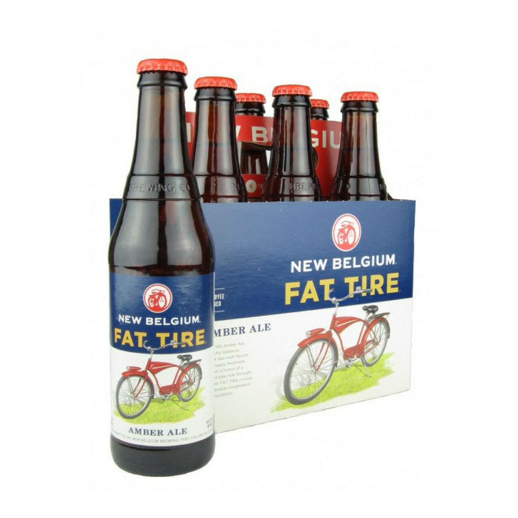 Fat Tire Amber Ale New Belgium Brewing Co, 6 Pack Bottles