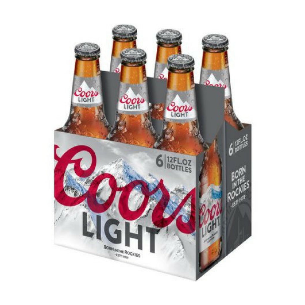 Coors Light, 6 Pack Bottles