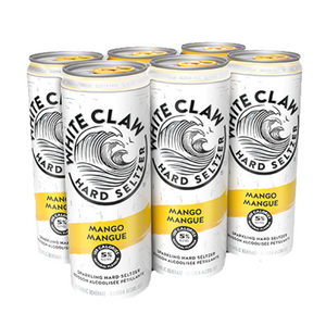White Claw, Hard Seltzer, Mango, 6 Pack 355ml Cans