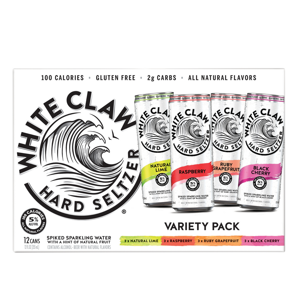 White Claw, Hard Seltzer, Variety Pack 12 Pack 355ml Cans