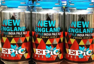 Epic Brewing, Drama Juice, New England, IPA, 6 Pack Cans