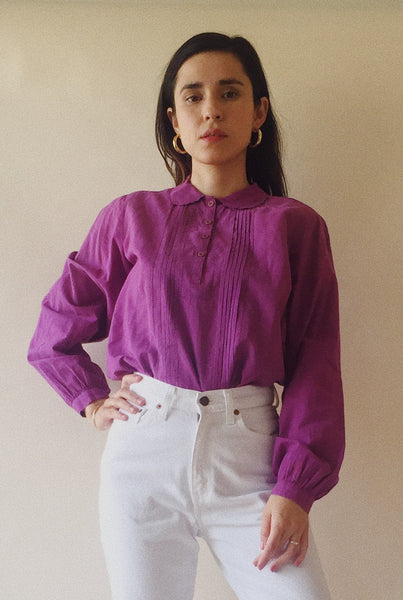 Plum Cotton Blouse