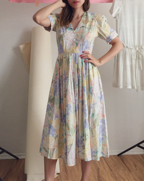 Summer Floral Sailor Dress
