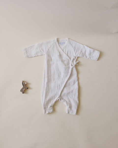 Under The Nile Organic Cotton Kimono Onesie, 3 months