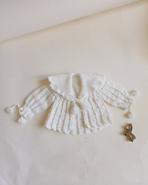 Collared Knit w/ Tassels, 3 to 6 months