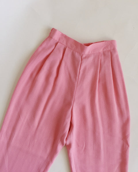 Pink High Waisted Pants