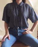 Silk Polka Dot Blouse