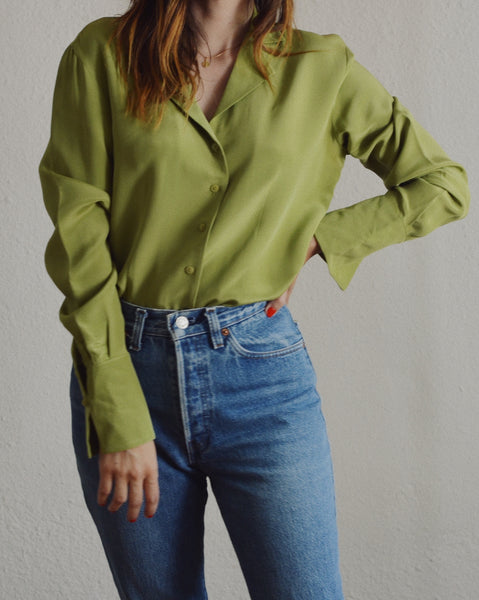 Silk Moss Blouse