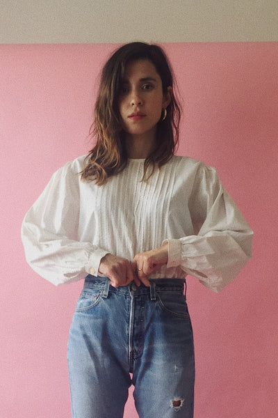 Vintage Mexican Cotton Blouse