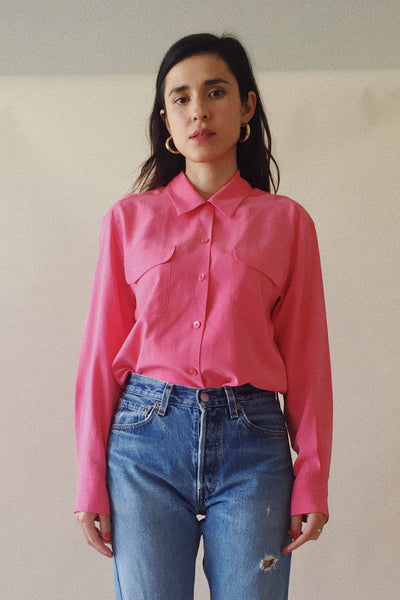 Bubblegum Silk Blouse