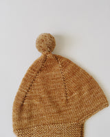 Misha and Puff Pointy Peak Hat in Nutmeg, 12-24 months