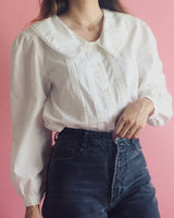 Vintage Bib Collar Blouse